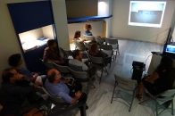 Closing the residency with an artist talk at the Museum of Contemporary Art of Crete in Rethymno