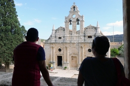 First visit at the Arkadi Monastery
