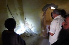 Dimitra Maltabe talking to visitors