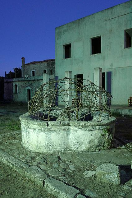 Night view of the work of Manolis Zacharioudakis